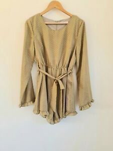 Toby Heart Ginger Playsuit Sz Large