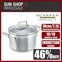 100% Genuine! SCANPAN Impact 18cm 2.5L Covered Dutch Oven Casserole! RRP$110.00!