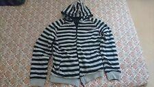 Zoo York Hoodie Reversable Stripes Navy Grey Sz M