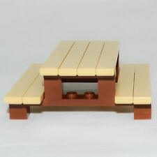 LEGO Furniture: Picnic Table Set w/ Instructions & Parts    [minifig,yard,house]