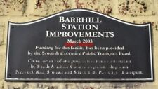 PHOTO  PLAQUE BARRHILL STATION THE IMPROVEMENTS SEEMED TO CONSIST OF BUILDING TW