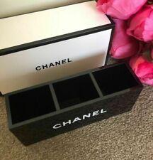 "BNIB CHANEL Acrylic Makeup Storage Brush Holder Organiser Box 3 Slots ""POST FREE"