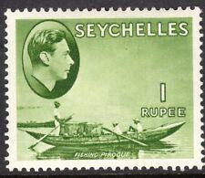 Seychelles1938 yellow-green 1r chalk paper multi-script mint SG146