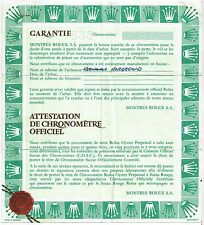 ROLEX VINTAGE CERTIFICATO DI GARANZIA Datejust 16233 X351158 OEM