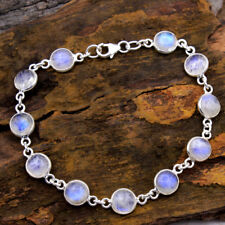 """CYBER DAY SALE 925 Sterling Silver Jewelry Natural Moonstone Bracelet 6.5-7"""""""