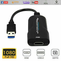 HDMI to USB Video Capture Card 1080P Recorder Facebook Webcam Live Streaming