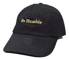 KB Ethos Be Humble Adjustable Black Cotton Novelty Cap Dad Hat