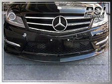 CS Style Carbon Fiber Front Lip For M-BENZ W204 C204 C250 C300 2D/4Dr  2012-2015