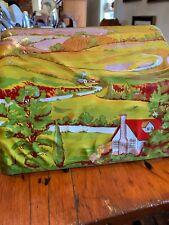 Vintage MAR TOYS Tin Litho Train Tunnel Country Scene For Model Train V44