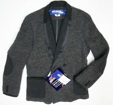 NEW JUNYA WATANABE COMME DES GARCONS CHARCOAL WOOL KNITTED TUXEDO JACKET SZ M