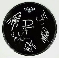 """DRAGONFORCE BAND SIGNED 12"""" REMO DRUMHEAD W/COA REACHING INTO INFINITY"""
