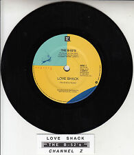 "THE B-52'S  Love Shack 7"" 45 rpm vinyl record + juke box title strip"