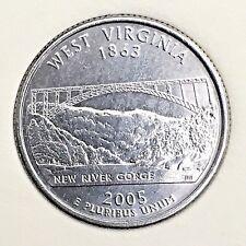 US State Commemorative Quarter Dollar Series,2005-D WEST VIRGINIA 1863 Ex-Fine+
