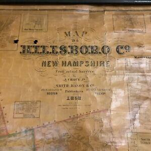 Hillsborough County Map 1858 Smith, Mason & Company, Philadelphia and Boston