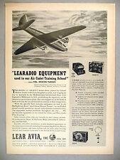 Learadio Equipment PRINT AD - 1943 ~ Lear Avia
