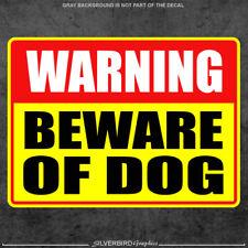 Beware of Dog sticker caution warning door window animal vinyl decal