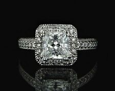 Engagement Solitaire with Accents VS2 Fine Diamond Rings