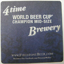 FIRESTONE WALKER BREWING, 4 TIMES, Beer COASTER, Mat Lion & Bear CALIFORNIA 2012