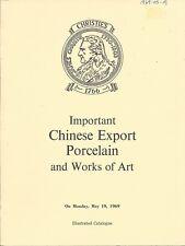 CHRISTIE'S LONDON CHINESE EXPORT PORCELAIN WOA Auction Catalog 1969