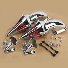 Aluminum Spike Air Cleaner Kits Intake Filter For Suzuki Boulevard M109 Chrome