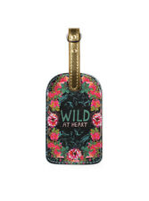 Papaya Art Luggage Tag ~ WILD at HEART ~ Travel Suitcase ID Tag ~ New