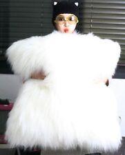 Very Soft Comfortable Plush Long Faux Fur White Throw Pillow Cover Cushion Case