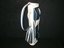 ANTIQUE NAVY BLUE & WHITE VINYL LEATHER Light SUNDAY Golf Bag Atlantic Products