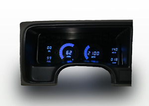 1995-1999 Chevy Truck Digital Dash Panel Blue LED Gauges For LS Swap Made In US