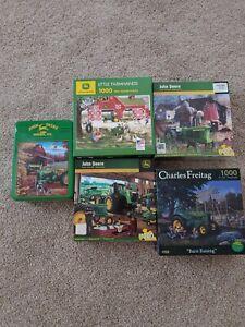 5 John Deere 1000 pc puzzles