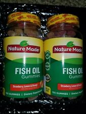 Nature Made Adult Gummies Fish Oil Gummies Assorted Flavors 150 ea Lot of 2 NEW