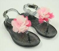 Girls  Black Spot On Retro Summer Jelly Sandals SALE! H2R309