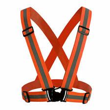 Orange Safety Adjustable Security High Visibility Reflective Vest Night Running
