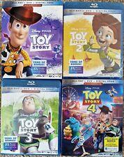 Toy Story Collection (Blu-ray, Dvd, Digital) 1 2 3 4 Set, Disney Pixar, New