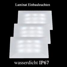 IP67 wasserdicht LED Laminat Einbauleuchten quadratisch Feuchträume Fliesen Quad