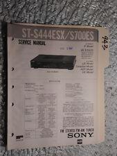 Sony st-s444esx s700es service manual original repair book stereo tuner fm radio