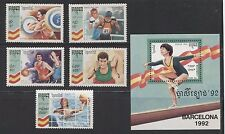 BARCELONA OLYMPIC GAMES ON CAMBODIA 1992 Scott 1224-1229, MNH