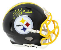 JuJu SMITH-SCHUESTER Signed Steelers Black Matte Riddell Speed Mini Helmet - SS