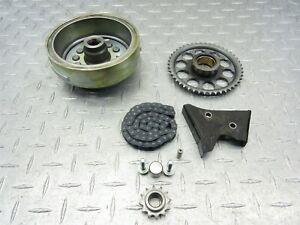 2007 97-09 Kawasaki Ninja EX500 500R Fly Wheel Rotor Starter Clutch Gear Chain