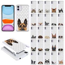 "For Apple Iphone 11 6.1"" 2019 Pet Design Bling Hybrid Hard Rubber Case Cover"