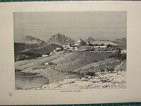C1890 Antico Stampa ~ Adua ~ Capitale Di Tigre