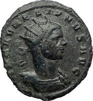AURELIAN 272AD Authentic Silvered Ancient Roman Coin SOL SUN God i73437