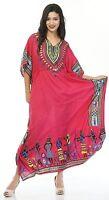 Boho Hippy African Kaftan Dress, Free Size Women Beach Cover up Caftan Maxi Gown