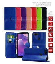 Per Alcatel Pop 4 Portafoglio slot per schede libro Cover PU Pelle Case Telefono