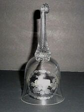 Hand Crafted Crystal Bell Etched Duck Twisted Handle Crystal Clear Industries