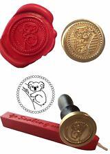 Wax Stamp,  AUSTRALIAN KOALA BEAR Flying Coin Seal and Red Wax Stick XWSC002-KIT