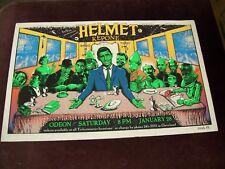 "HELMET / KEPONE CONCERT POSTER SILK SCREEN BLACK LIGHT 1995 EMEK 30"" x 19"" ROCK"
