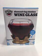 New listing BigMouth Inc. The Diamond Ring Wine Glass and Coaster Set 14 oz - Big Mouth Inc