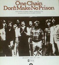 """Santana-One Chain Don'T Make No Prison"" Piano/Vocal/Guitar Sheet Music-1974-New"