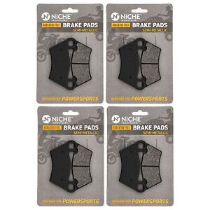 NICHE Brake Pad Set for Polaris 2202413 2202097 Front Rear Semi-Metallic 4 Pack