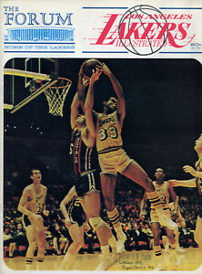 1968-69 NBA SEATTLE SUPERSONICS vs. LOS ANGELES LAKERS GAME PROGRAM UNSCORED NM